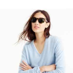 J.crew Italian Cashmere v neck blue sweater